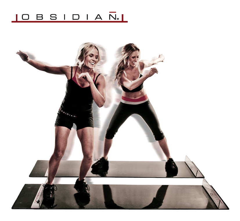 Obsidian Fitness Slide Board Stuk