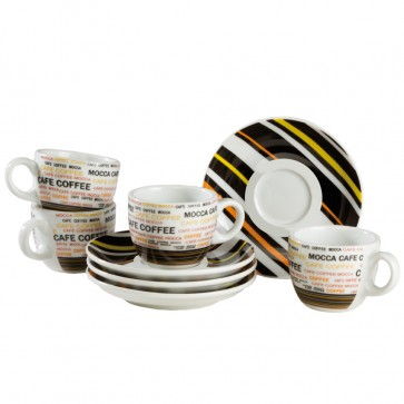 Espresso servies (4 kop en schotels)