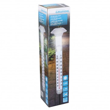 Solar LED lamp met thermometer