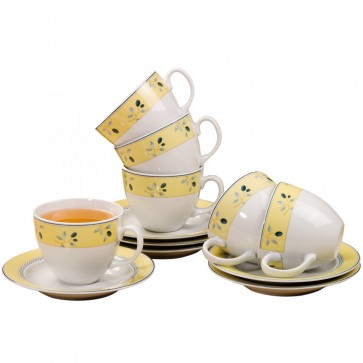 Royal Doulton set - 6 kop en schotels
